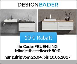 Sichere dir deine 10€ Frühlingsrabatt bei DesignBäder!