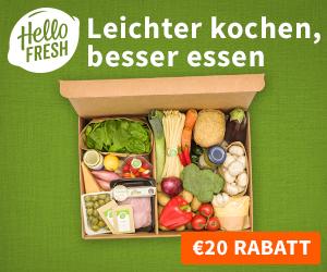 Der September ist HelloFRESH Monat - je 10€ Rabatt auf deine 1. + 2. Kochbox!