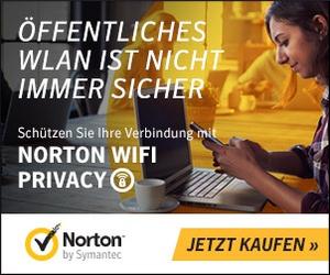 Produkteinführung mit 10% Bonus: Norton schützt deine Daten jetzt auch im WiFi!