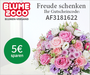 Du verschenkst Blumen und dafür schenkt Blume2000 dir 5€!