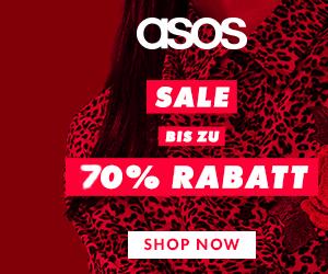 Bis zu 70% Rabatt im ASOS SALE und Gratis-Versand!