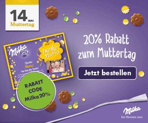 DANKE MAMA - 20% Rabatt auf die Milka-Muttertag-Edition!