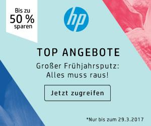 Großer Frühjahrsputz im HP Store - Bis zu 50% Rabatt im Technik-Outlet!