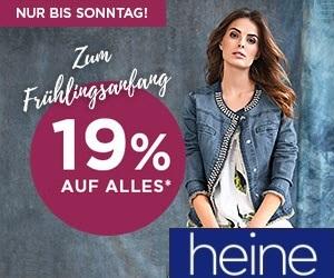 19% auf ALLES bei Heine