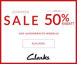Sommer Sale bei Clarks & 8% Bonus!