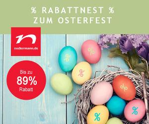 Starke Oster-Rabatte bei Neckermann - Bis zu 89% sparen + 4% Cashback!