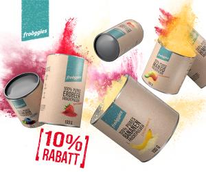 10% Rabatt auf alle frooggies Produkte