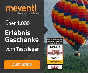 20€ Gutschein für Erlebnisgeschenke bei MEVENTI!