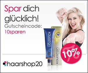 10% Gutschein für haarshop20.com