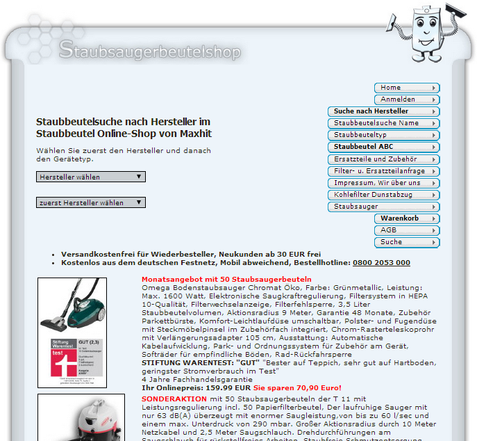 staubsaugerbeutelshop.de Gutschein