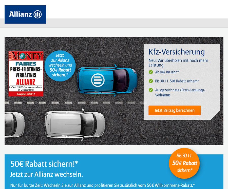 Allianz Kfz-Versicherung Gutschein
