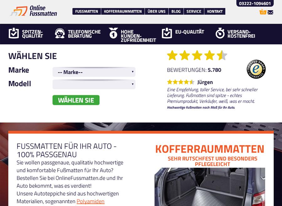 Onlinefussmatten Gutschein