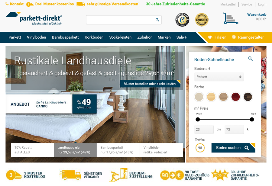 parkett-direkt.net Gutschein