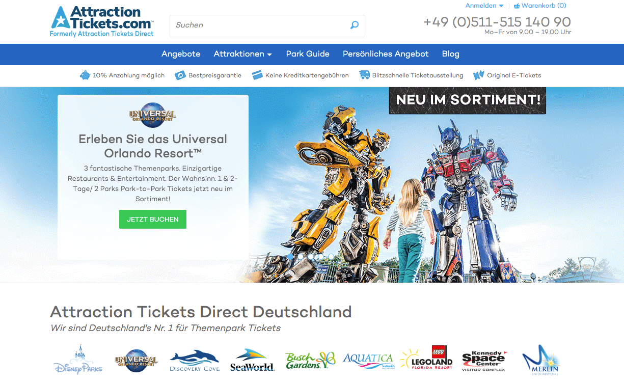 Attraction Tickets Direct Gutschein