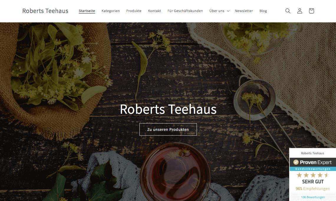 Roberts Teehaus Gutschein
