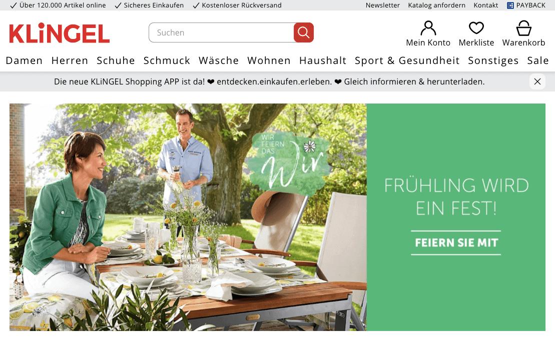 16b32132e5eafd Klingel AT 10€ Cashback Gutschein - 2019 garantiert gültig