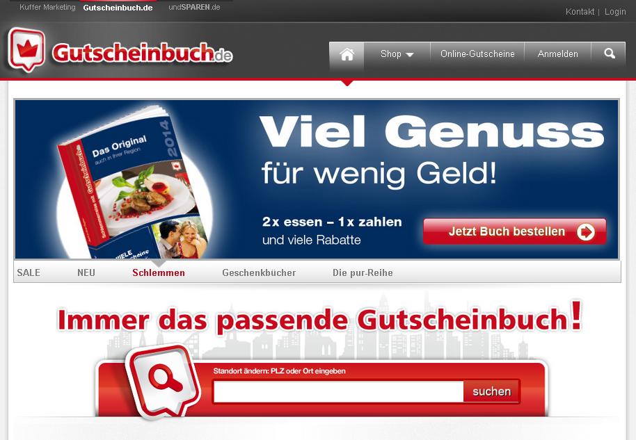 Gutscheinbuch.de Gutschein