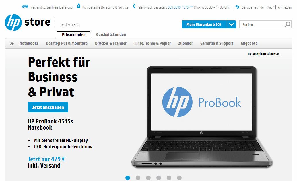HP Store Gutschein