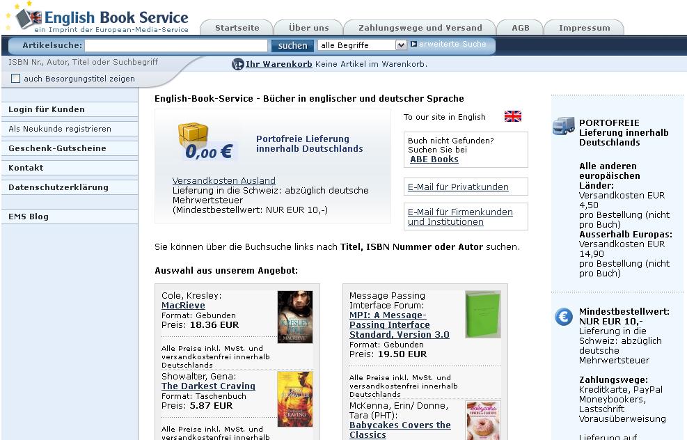 English-Book-Service Gutschein