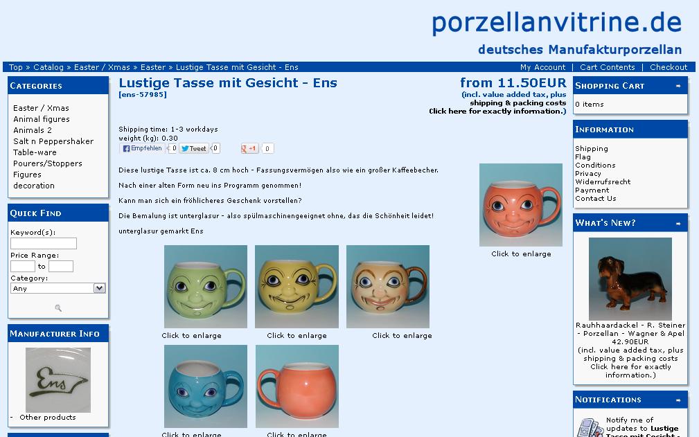 Porzellanvitrine Gutschein