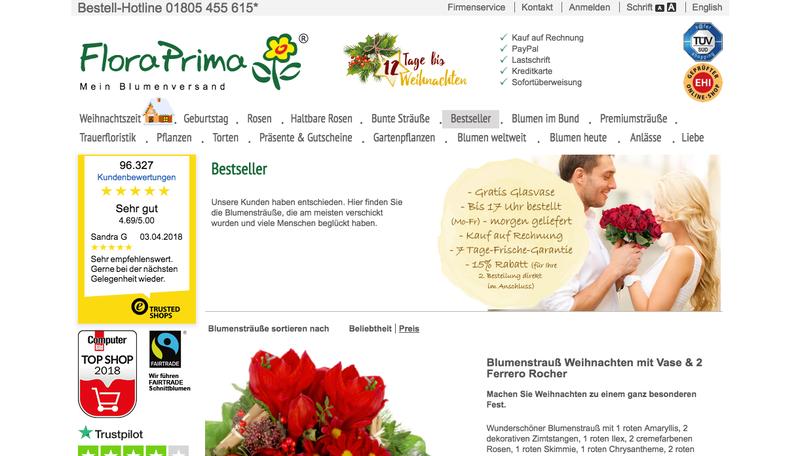 Flora Prima Gutschein