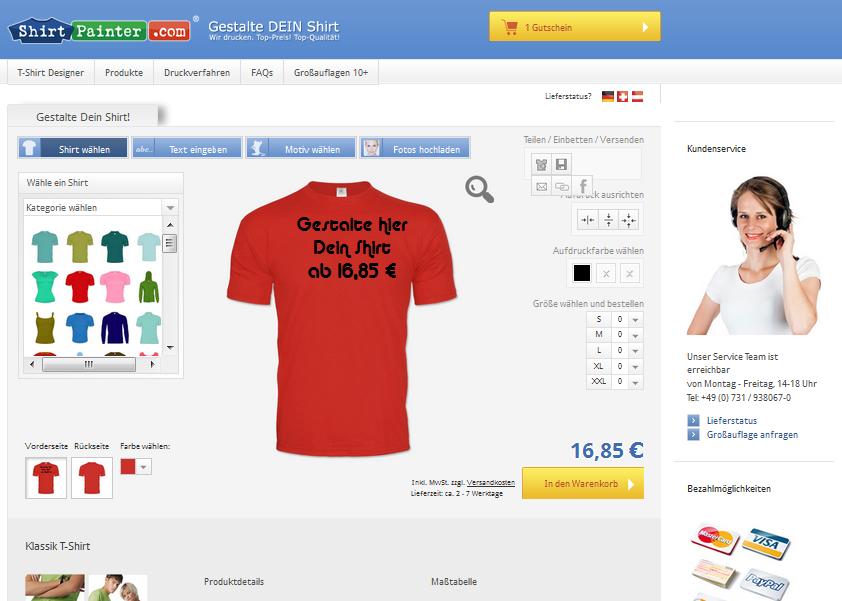ShirtPainter.com Gutschein