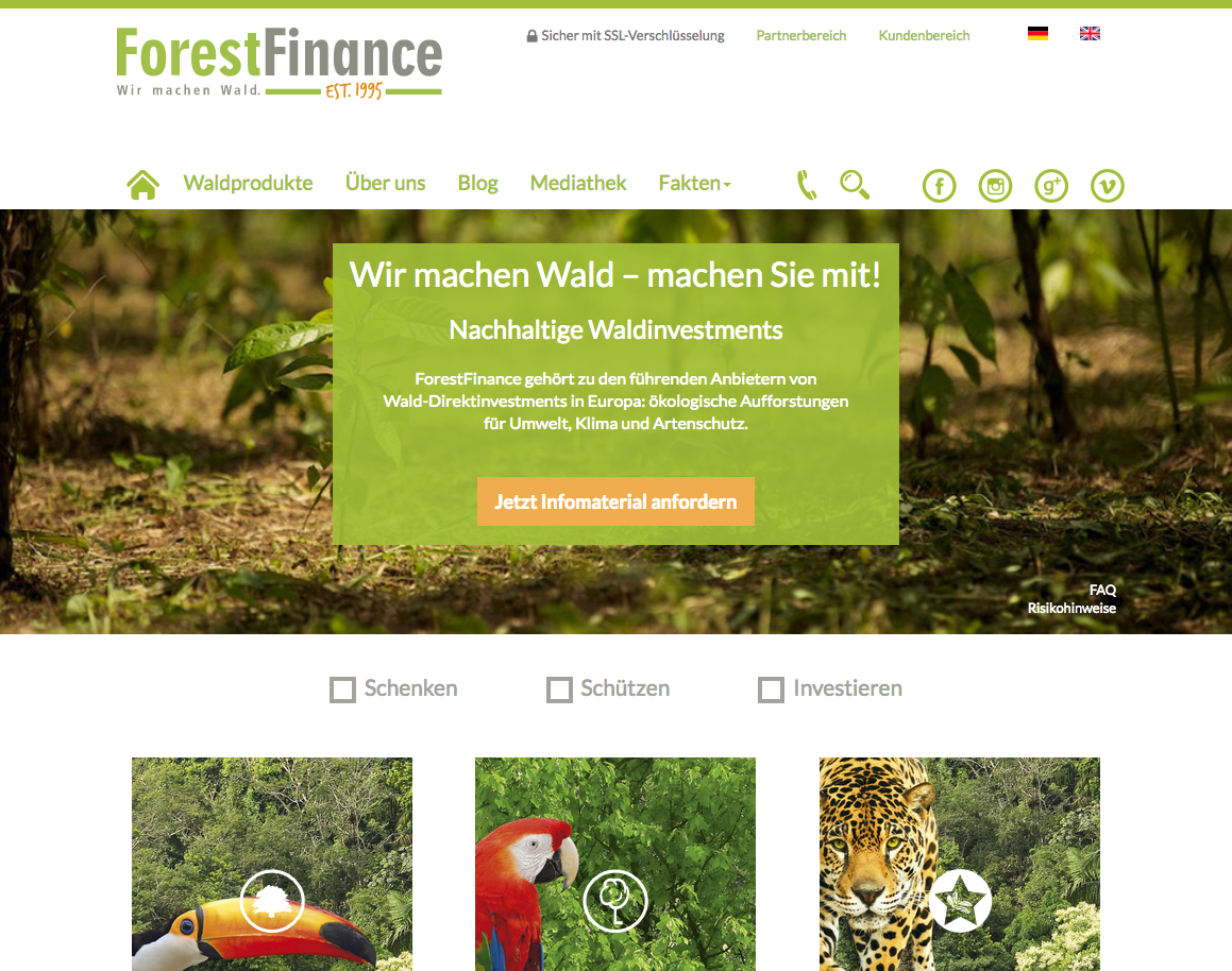Forest Finance Gutschein