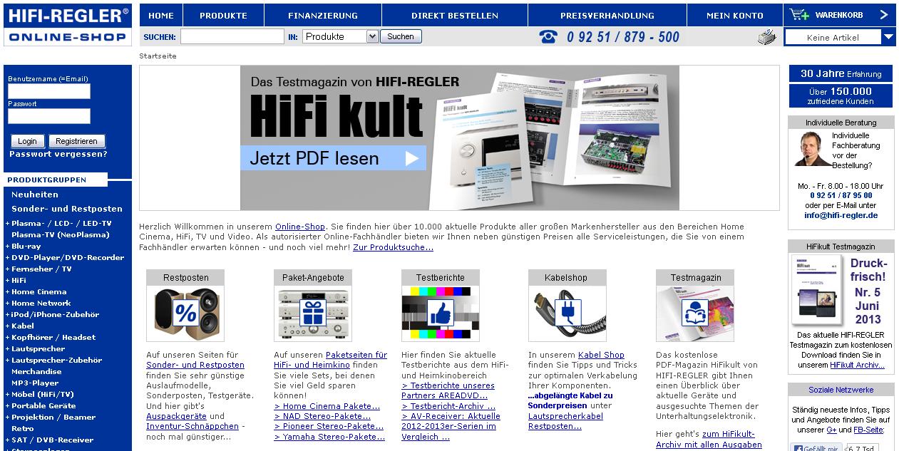 Hifi-Regler Gutschein