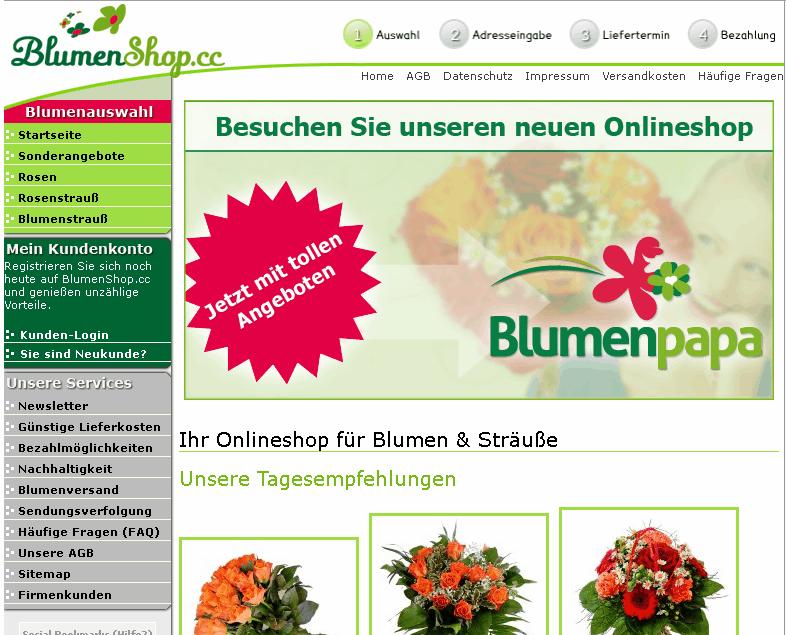 blumenshop.cc Gutschein
