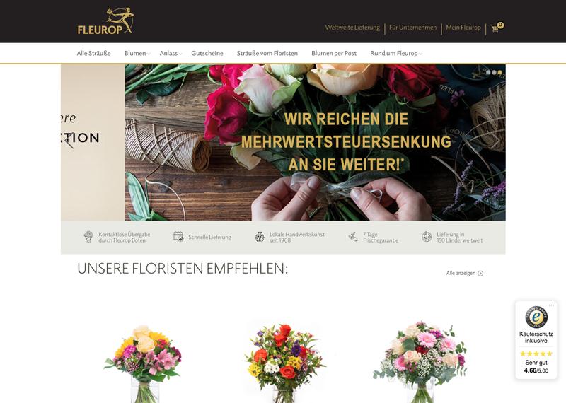 Fleurop Blumenversand Gutschein