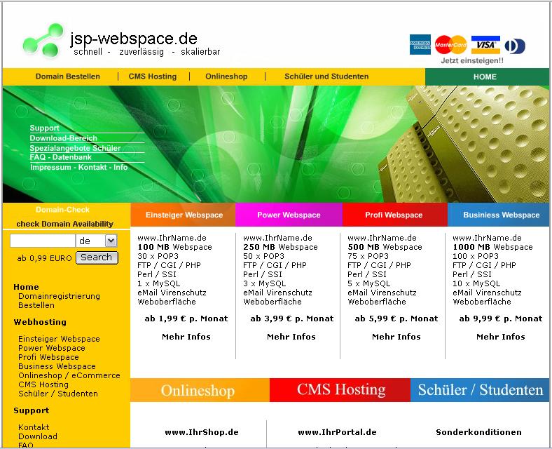JSP-Webspace.de Gutschein