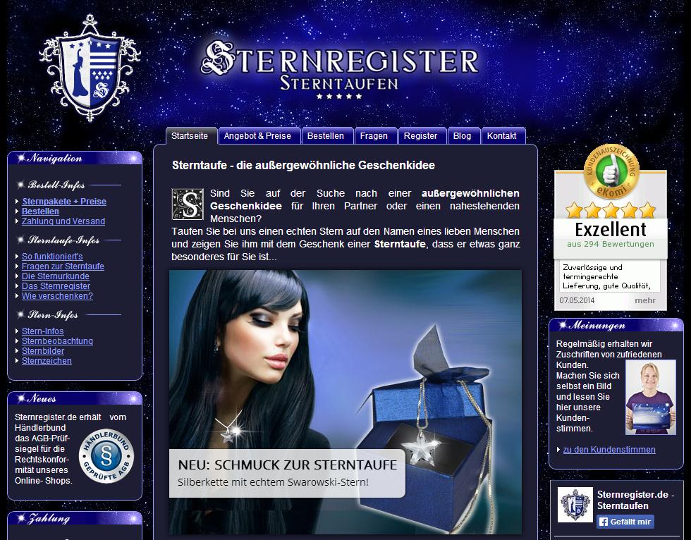 Sternregister.de Gutschein