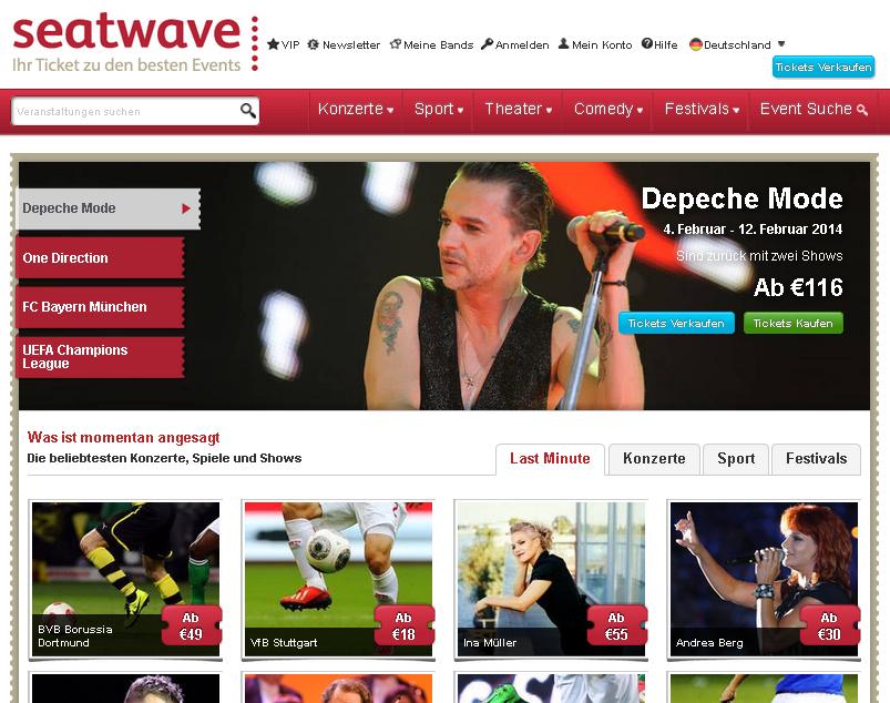 Seatwave.de Gutschein