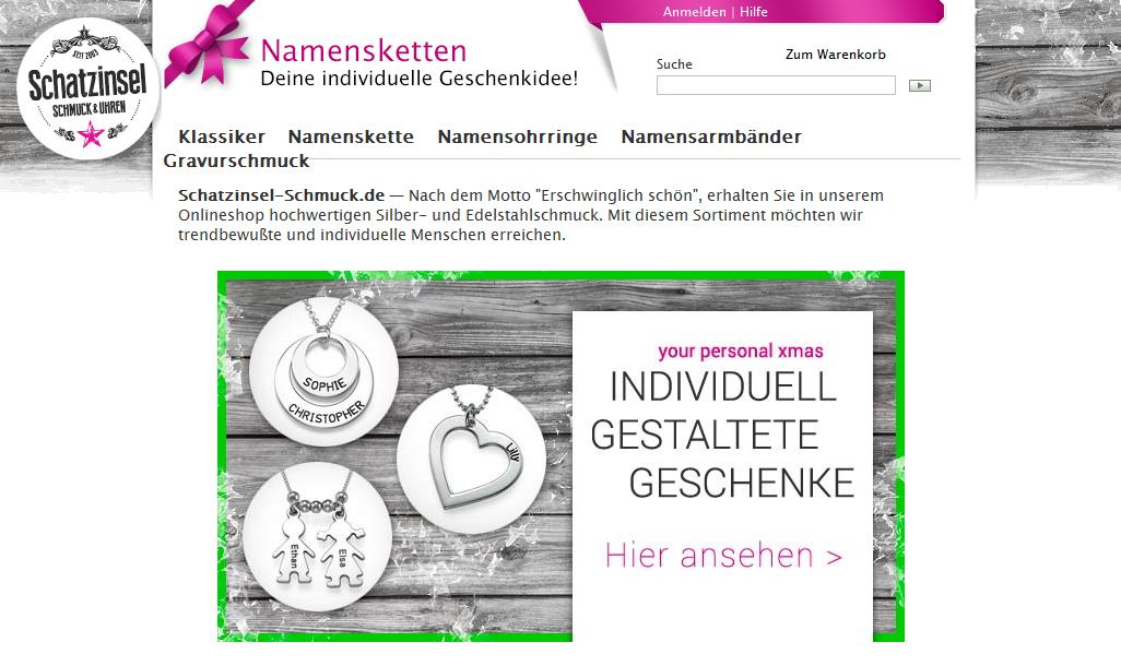Schatzinsel-Schmuck Gutschein