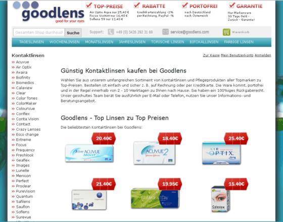 Goodlens.com Gutschein
