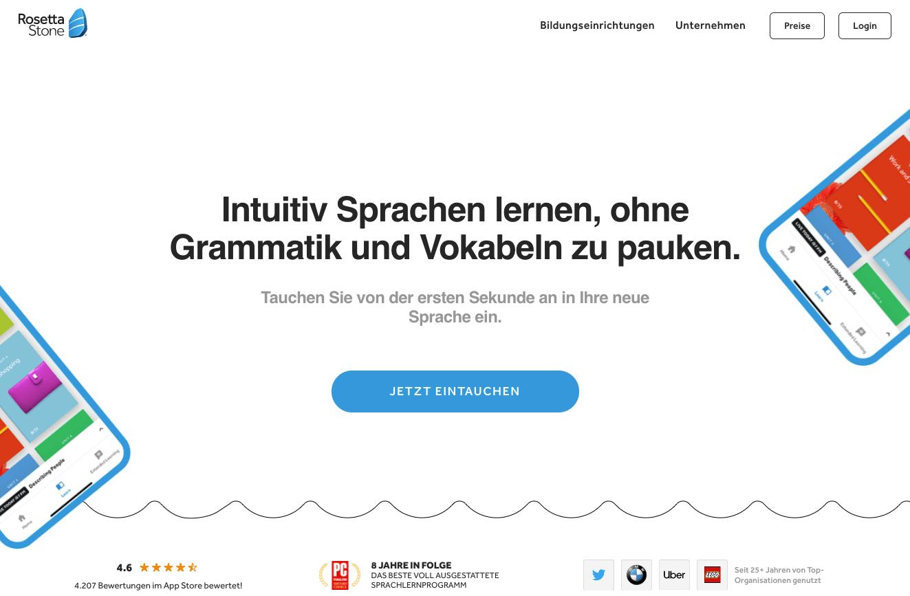 RosettaStone Sprachlernsoftware Gutschein