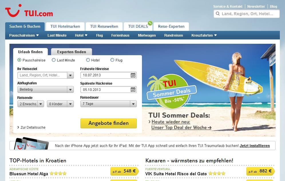 tui.com Gutschein