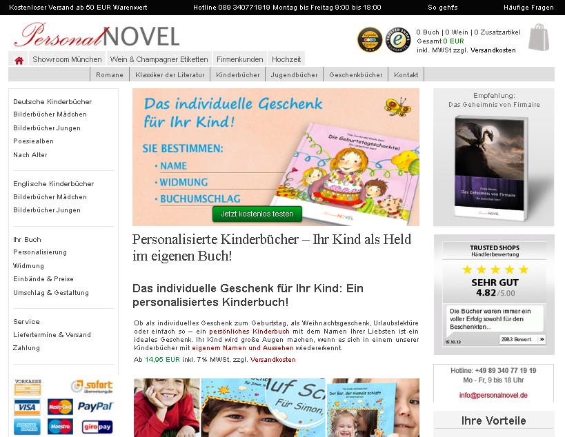 PersonalNOVEL Gutschein