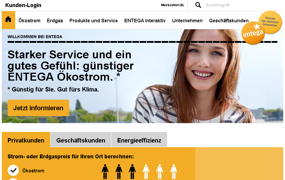 Entega Ökostrom-& gas Gutschein