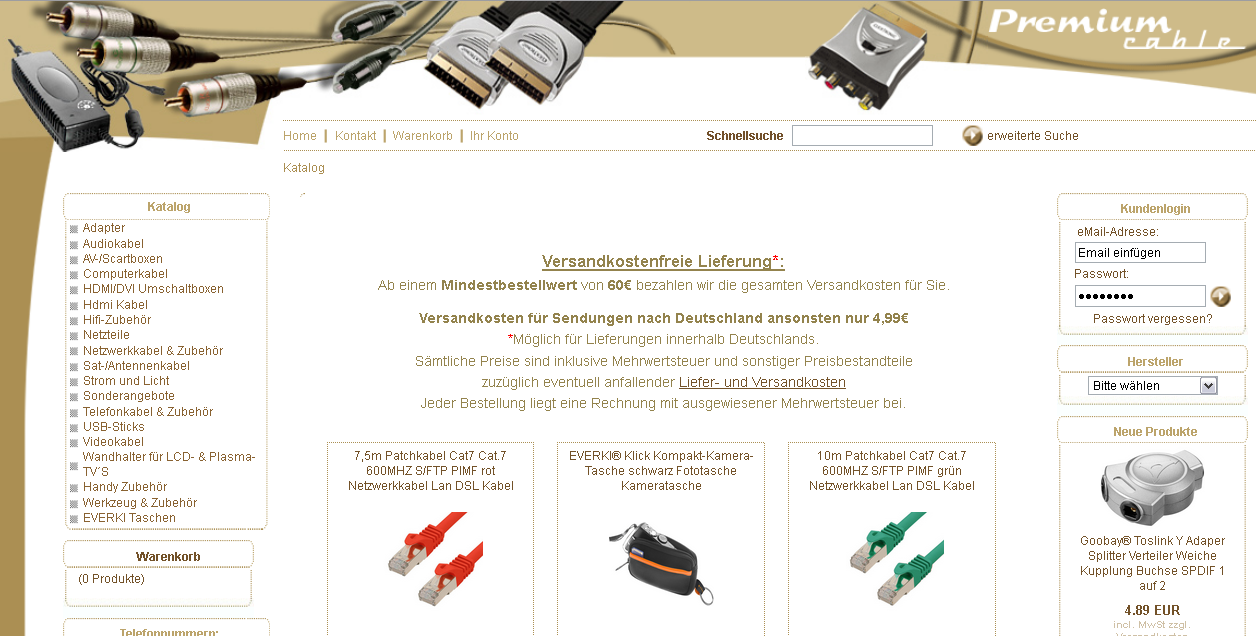Premium Cable Gutschein