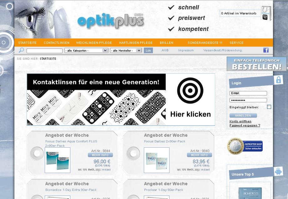 OptikPlus.de Gutschein