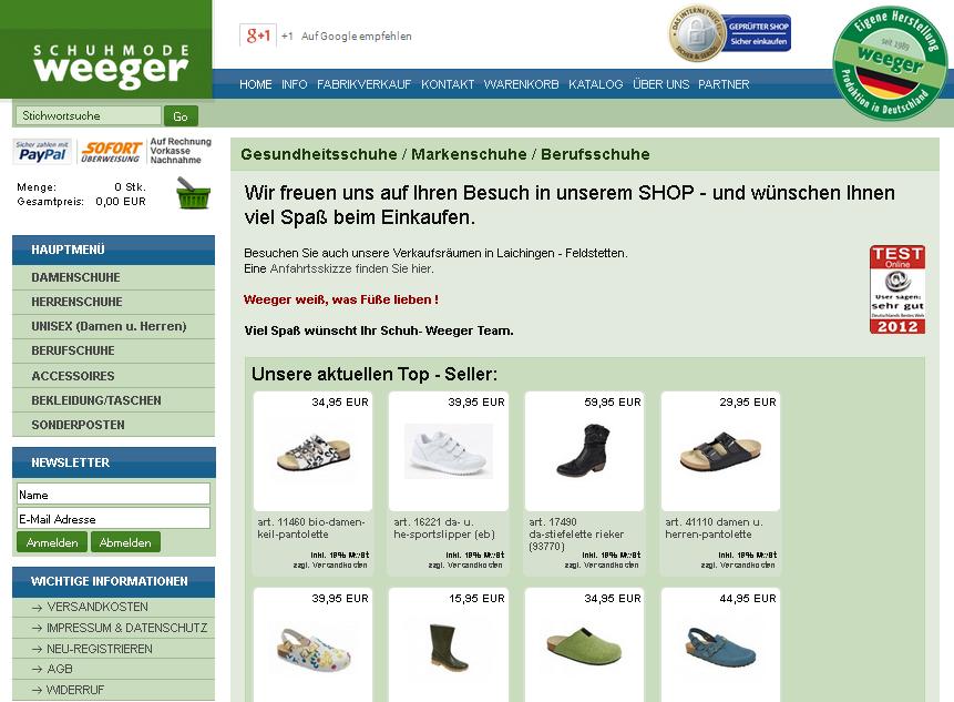 Schuh-Weeger Gutschein