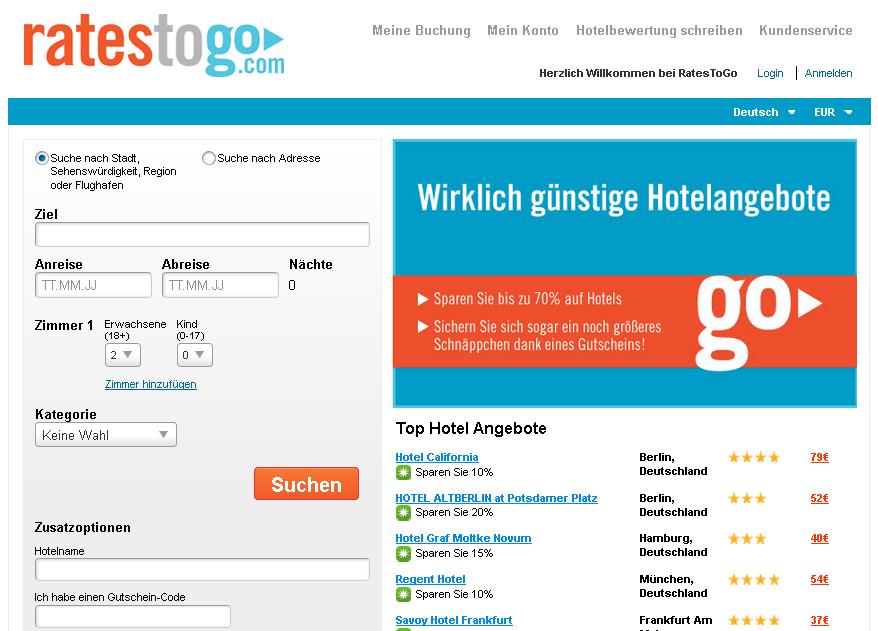 Rates to Go Gutschein