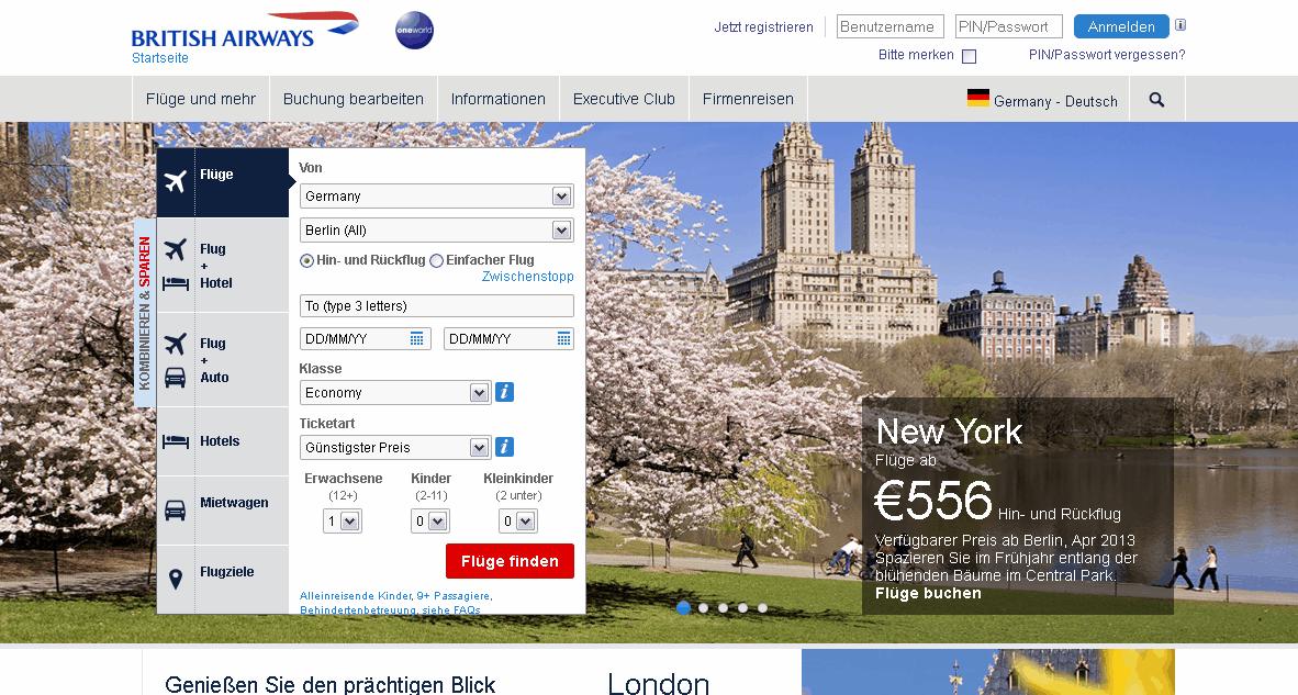 British Airways DE Gutschein