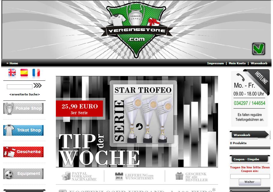 VereinsStore.com Gutschein