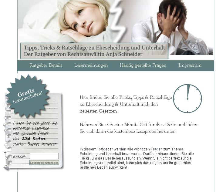 Scheidung-Unterhalt-Ratgeber.de Gutschein