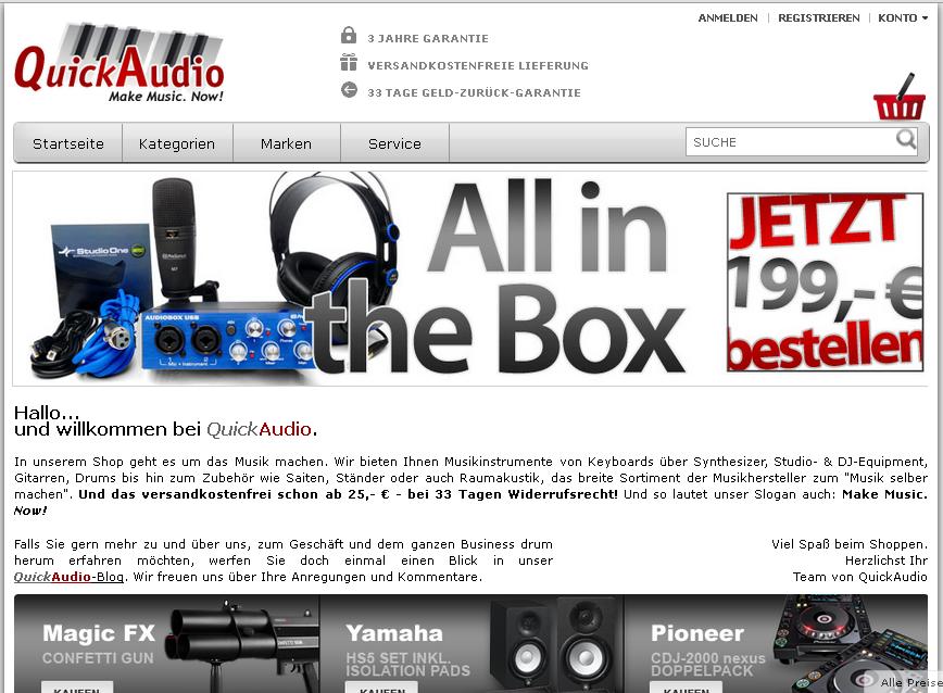 QuickAudio Gutschein