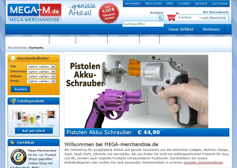Mega-Merchandise Gutschein