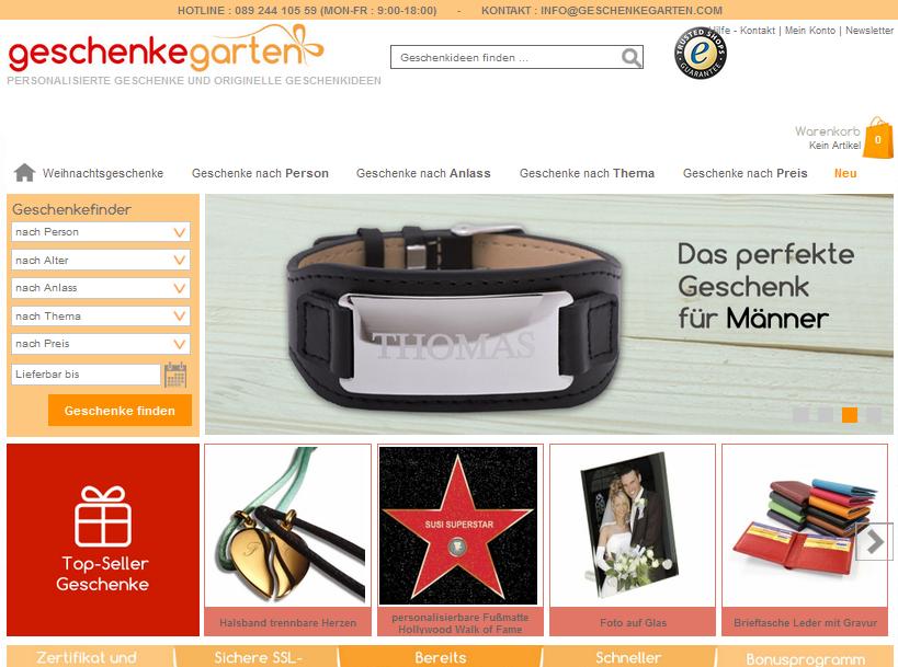 Geschenkegarten.com Gutschein