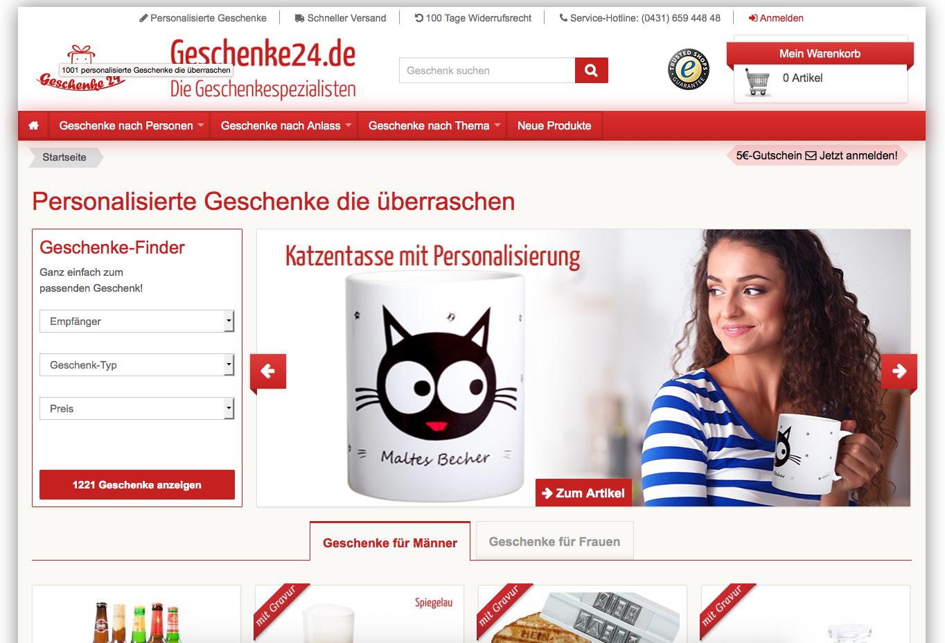 Geschenke24.de Gutschein